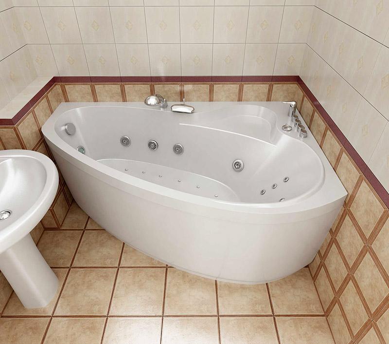 Угловые ванны размеры картинки